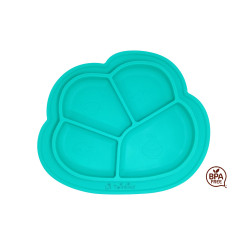 Lil Twinkies?? Anti-Slip Silicone Dish Plate / BPA Free / Sterilizer Safe (Teal Color) image here