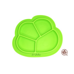 Lil Twinkies?? Anti-Slip Silicone Dish Plate / BPA Free / Sterilizer Safe (Green Color) image here