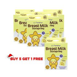 Li'l Twinkies?? Breast Milk Storage Bag 120's, 5+1 BUNDLE PROMO / 250ml or 8oz / BPA Free / Freezer Safe image here