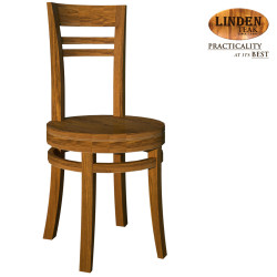 Handcrafted Gold Teak Chantik Dining Chair wihout Arm (Gold Teak Series Indoor Design) image here