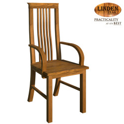 Handcrafted Gold Teak 306 Dining Chair with Arm (Gold Teak Series Indoor Design) image here