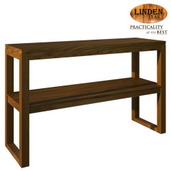 Handcrafted Gold Teak Hotel Console Table with Shelf (Gold Teak Series Indoor Design) image here