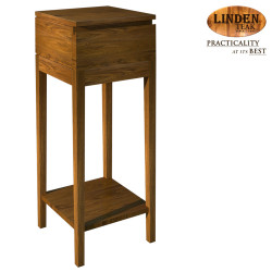 Handcrafted Gold Teak Line Nite Table 37cm (Gold Teak Series Indoor Design)  GT-NT-LINE37 image here