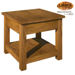 Handcrafted Gold Teak Minimalist Solid Side Table without Drawer (Gold Teak Series Indoor Design) image here
