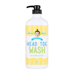 Messy Bessy Messy Baby Head To Toe Wash 500ml,yellow,BB-HTWX500 image here