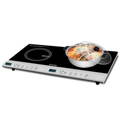 Imarflex Ph, Twin Burner Induction Cooker, Black, IDX-3200HG image here