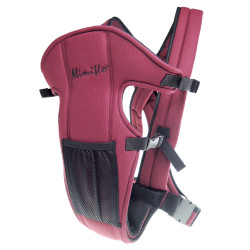 MIMIFLO 5-in-1 Baby Carrier Maroon image here