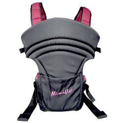 MIMIFLO Soft 3 Way Baby Carrier with Bib image here