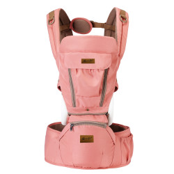 MIMIFLO 8-in-1 Hip Seat Carrier Deep Peach image here