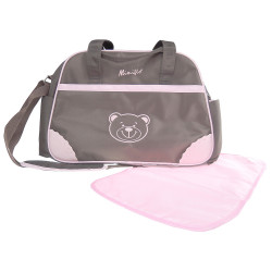 MIMIFLO 103 Diaper Bag (Brown/Pink) image here