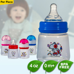 BPA FREE Peanuts Snoopy 4oz Feeding Bottles with Silicon Nipple image here