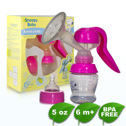BPA FREE Snoopy Manual Breast Pump image here