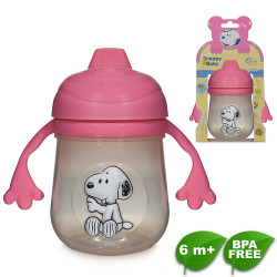 Snoopy Training Cup - Pink image here