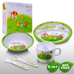 Coral Babies 5pc Meal Set - BPA FREE image here