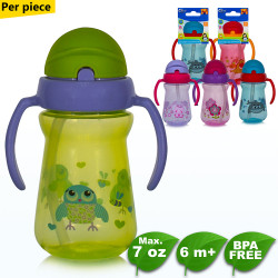 Coral Babies Sport Sipper Cup with Handle,green, CB 4359-BIRD image here