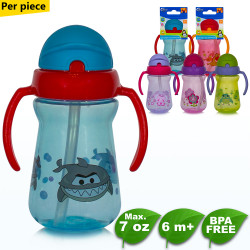 Coral Babies Sport Sipper Cup with Handle, blue,CB 4359-SHARK image here