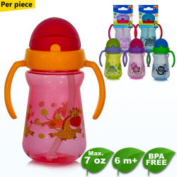 Coral Babies Sport Sipper Cup with Handle,red,CB 4359-GIRAFFE image here