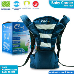 Coral Babies Baby Carrier with Seat - CB 035 Blue and Black image here