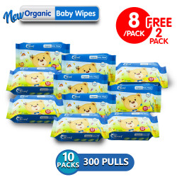 Coral Babies Organic Baby Wipes 30's - Set of 10 image here