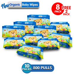 Coral Babies Organic Baby Wipes 80's - Set of 10 image here