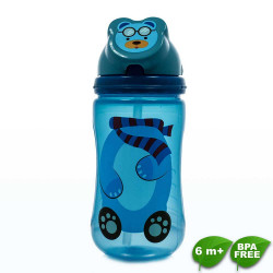 Coral Babies, Character Flip Straw Sport Sipper Cup - BPA FREE, Blue, CB 4343-B image here