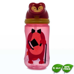 Coral Babies, Character Flip Straw Sport Sipper Cup - BPA FREE, Red, CB 4343-R image here