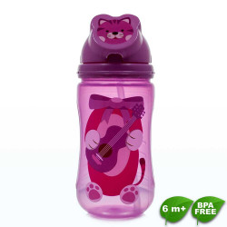 Coral Babies, Character Flip Straw Sport Sipper Cup - BPA FREE, Pink, CB 4343-P image here