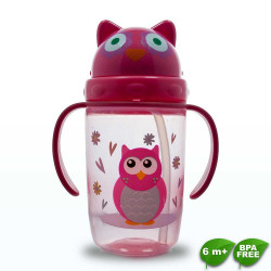 Coral Babies, Cup with Straw Lid - BPA FREE, Pink, CB 4353-P image here