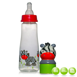 Coral Babies 8oz Feeding Bottle with Character Head image here