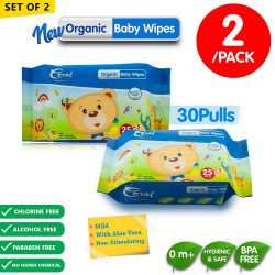 Coral Babies Organic Baby Wipes 30's - Set of 2 image here