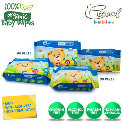 Coral Babies Organic Baby Wipes Set of 4 (80's/30' image here