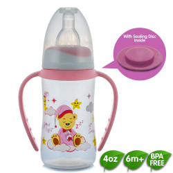 Coral Babies 4oz Feeding Bottles with Handle and Sealing Disc image here