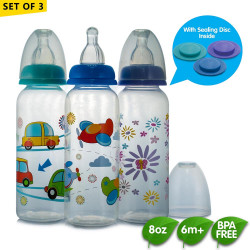 Coral Babies 8oz Feeding Bottles with Sealing Disc image here