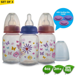 Coral Babies 4oz Feeding Bottles with Sealing Disc image here