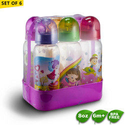 Coral Babies 8oz Feeding Bottles with Caddy Set of 6 image here