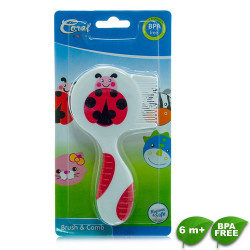 Coral Babies Duo Brush and Comb image here