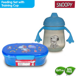 Snoopy Lunch Box/Meal Set with Training Cup image here