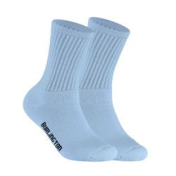 BURLINGTON HALF TERRY CREW LENGTH SOCKS WHITE BML-223 image here