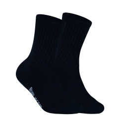 BURLINGTON HALF TERRY CREW LENGTH SOCKS BLACK BML-223 image here