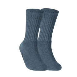 BURLINGTON HALF TERRY CREW LENGTH SOCKS GRAY BML-223 image here