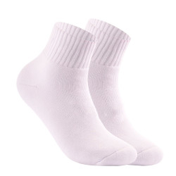 BURLINGTON HALF TERRY ANKLE SOCKS WHITE BML-222 image here