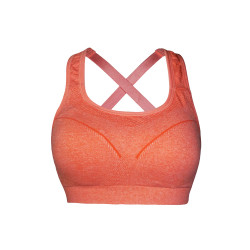 BIOFRESH CROSS STRAP SPORTS BRA PEACH ULBR02 image here