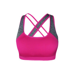 BIOFRESH CROSS STRAP SPORTS BRA PINK ULBR02 image here