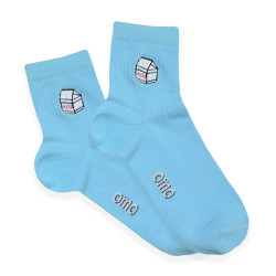 OMO ANKLE SOCKS CLEAR WATER OLCE1804 image here