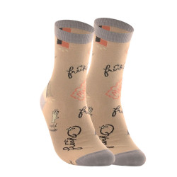 KNIT CREW LENGTH SOCKS BEIGE KMC1884 image here