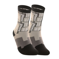 KNIT JUSTICE LEAGUE CREW LENGTH SOCKS GRAY KMJL1804 image here