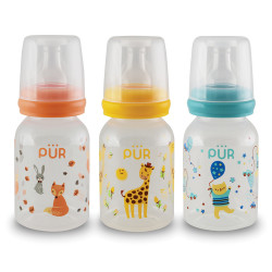 Pur 4oz Round Classic Feeding Bottle,orange,9012 image here