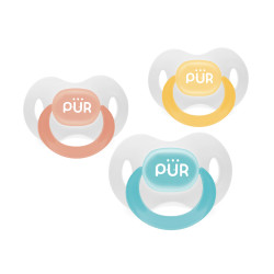 Pur Day Time Soothers w/ Orthodontic Silicone Teats,blue,14017 image here