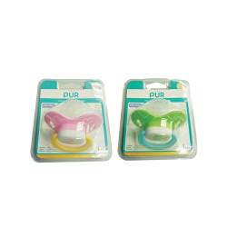Pur Soothers w/ Orthodontic Silicone Teats . w/ cover,green,14015 image here