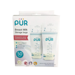 Pur Breast Milk Storage Bags 50's,white,6204 image here
